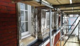 removing-paint-from-stone-windows-before