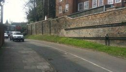 retaining wall repaired