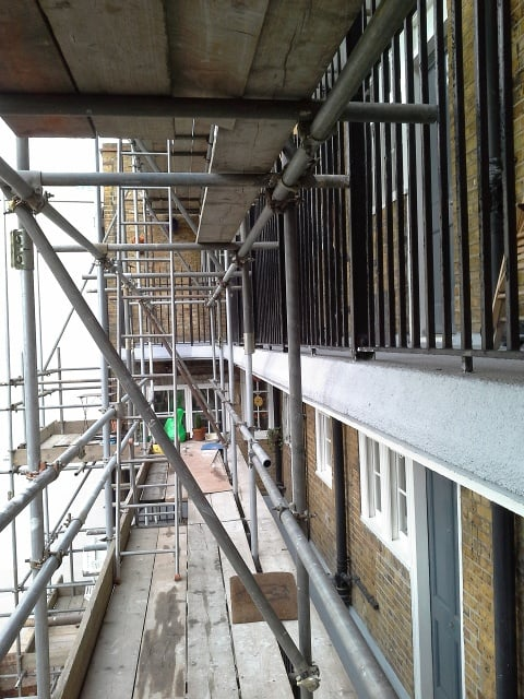 Balcony repairs old fire station hammersmith newman for Balcony repairs