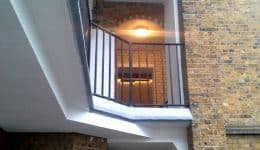 repaired and refurbished balconies