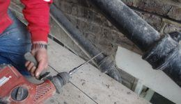 installing lateral restraint ties