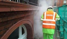 steam cleaning brick