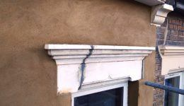 lintel ready for repainting