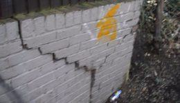 Cracks in Boundary Wall