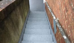 External stairs following application of Polyac Rapid