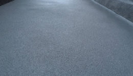 Close up of external walkway showing anti-slip texture following application of Polyac Rapid