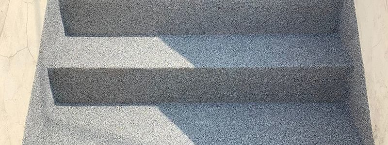 concrete steps with decorative waterproof coating